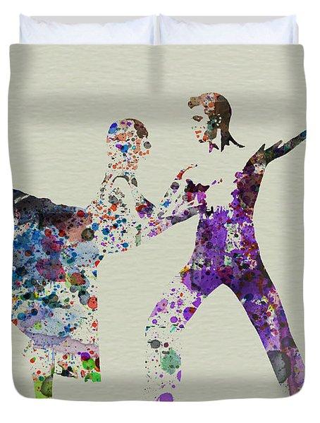 Couple Dancing Ballet Duvet Cover by Naxart Studio