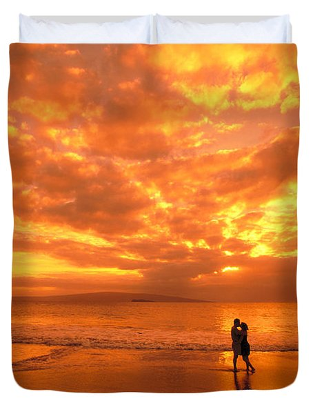 Couples Vacation Duvet Cover by Dave Fleetham - Printscapes