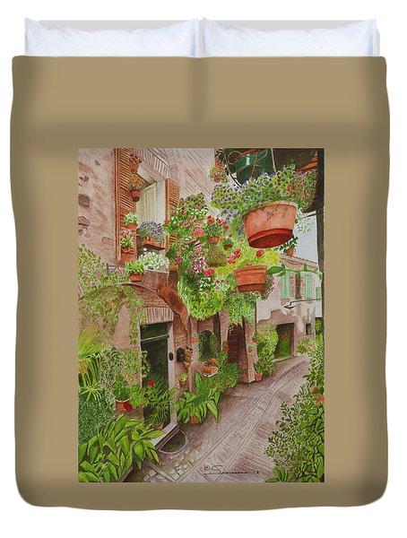 Courtyard Duvet Cover by C Wilton Simmons Jr