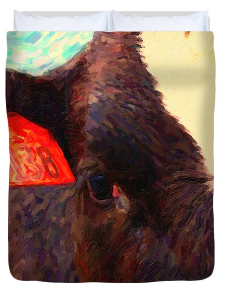 Cow 138 Reinterpreted Duvet Cover by Wingsdomain Art and Photography