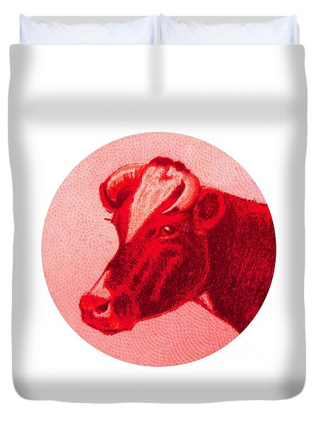 Cow Vi Duvet Cover by Desiree Warren