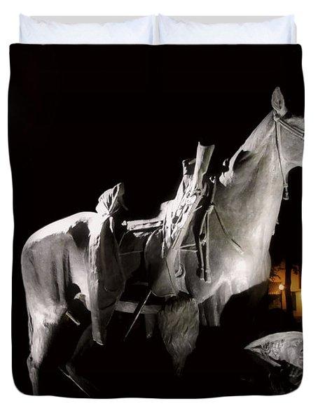 Cowboy At Rest Duvet Cover by Christine Till