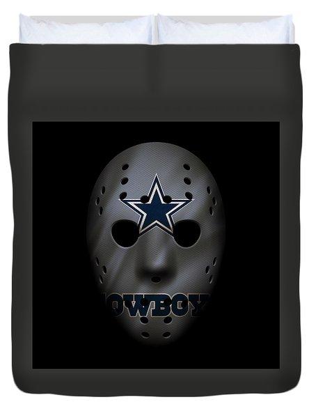 Cowboys War Mask 2 Duvet Cover by Joe Hamilton