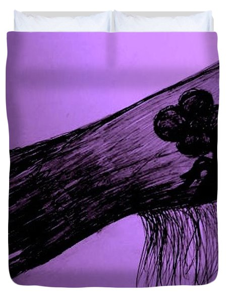 COWGIRL GLOVE PLUM CLASSY Duvet Cover by Susan Gahr