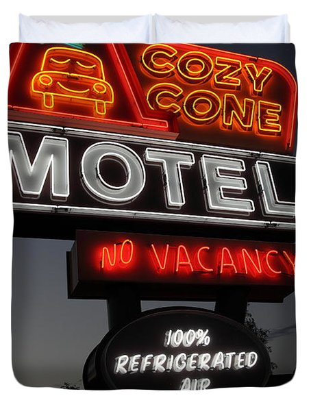 Cozy Cone Motel - Radiator Springs Cars Land - Disney California Adventure - 5D17746 Duvet Cover by Wingsdomain Art and Photography