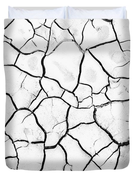 Cracked Mud Duvet Cover by Brandon Tabiolo - Printscapes