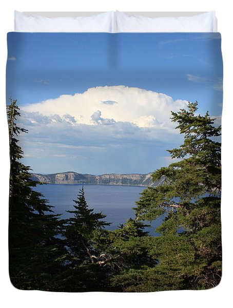 Crater Lake 8 Duvet Cover by Carol Groenen