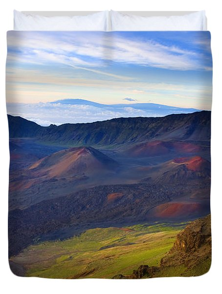 Craters Of Paradise Duvet Cover by Mike  Dawson