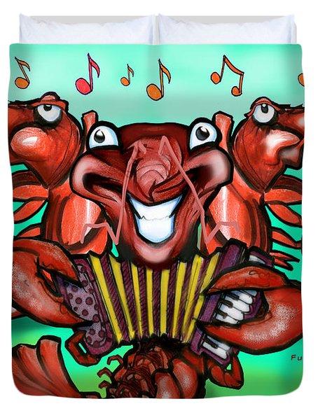Crawfish Band Duvet Cover by Kevin Middleton