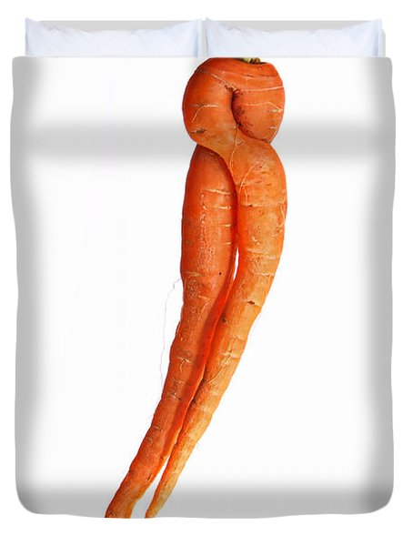 Crazy Carrot Fine Art Food Photography Duvet Cover by James BO  Insogna