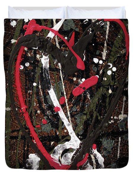 Crazy Love Duvet Cover by Jill English