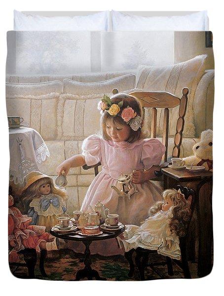 Cream And Sugar Duvet Cover by Greg Olsen