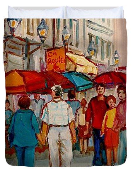 Creme De La Creme Cafe Duvet Cover by Carole Spandau