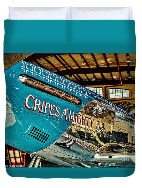 Cripes Almighty Duvet Cover by Tommy Anderson