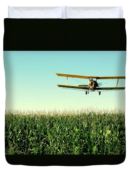 Crops Dusted Duvet Cover by Todd Klassy