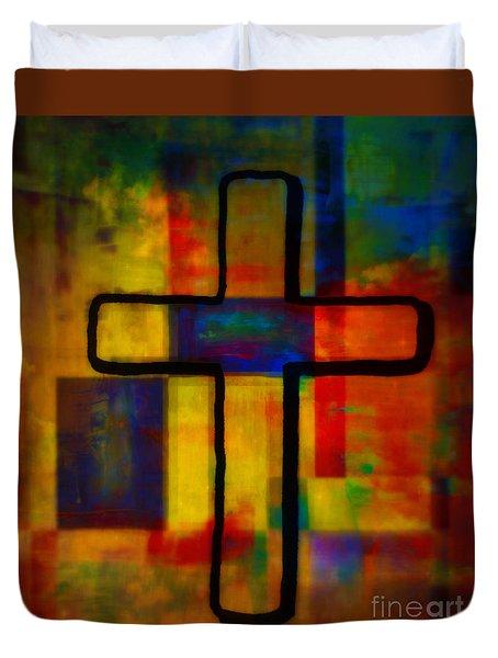 Cross XI Duvet Cover by WBK