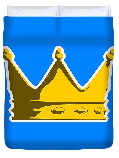 Crown Graphic Design Duvet Cover by Pixel Chimp