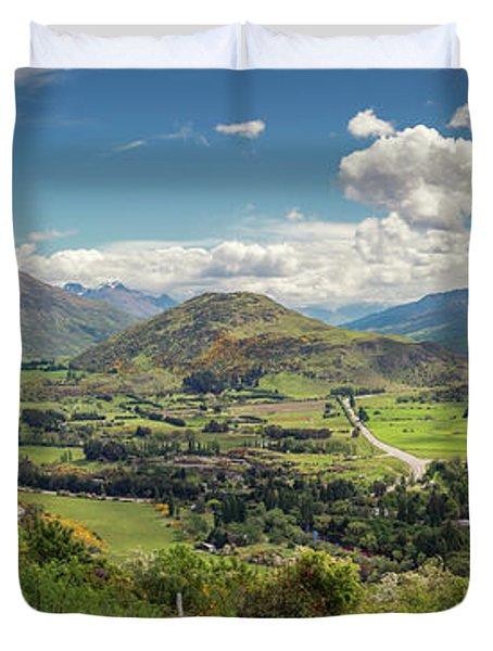 Crown Range Road Viewpoint New Zealand Panorama Photograph