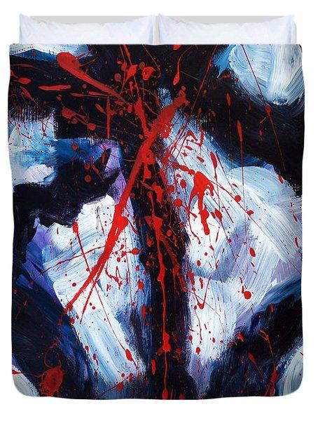 Crucified Duvet Cover by Lidija Ivanek - SiLa