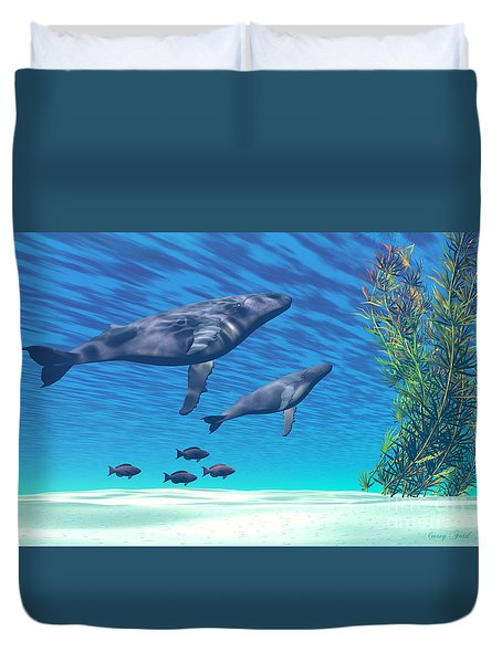 Crystal Clear Duvet Cover by Corey Ford