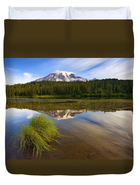 Crystal Clear Duvet Cover by Mike  Dawson