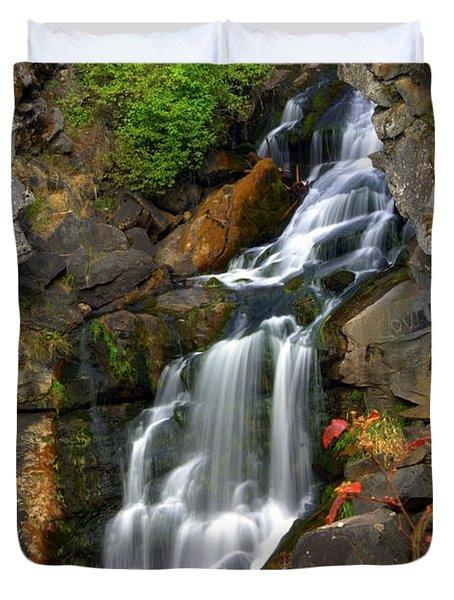 Crystal Falls Duvet Cover by Marty Koch