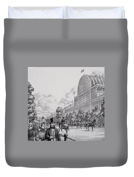 Crystal Palace Duvet Cover by Pat Nicolle