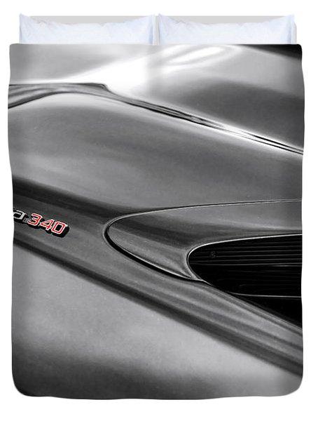 'cuda 340 Duvet Cover by Gordon Dean II