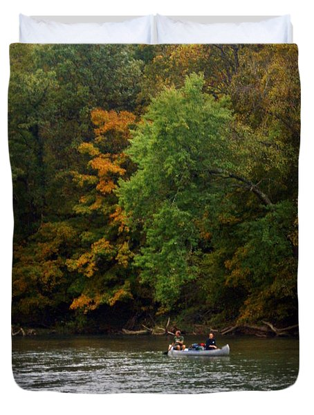 Current River 2 Duvet Cover by Marty Koch