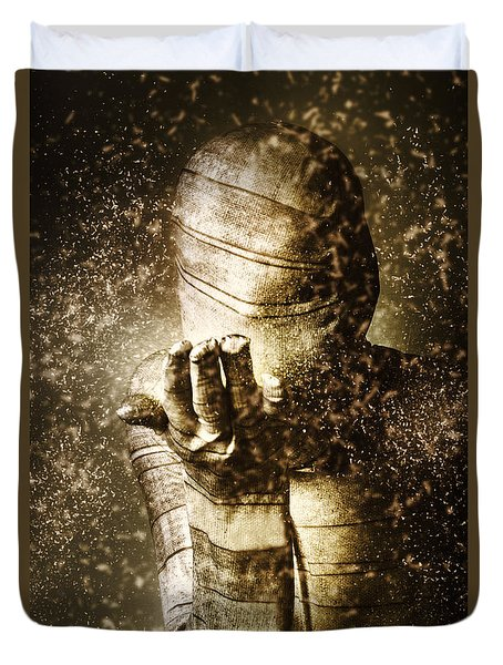 Curse Of The Mummy Duvet Cover by Jorgo Photography - Wall Art Gallery