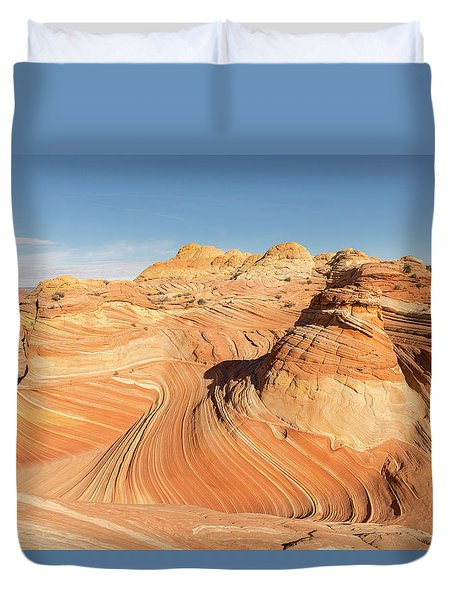 Curves Into Waves Duvet Cover by Tim Grams