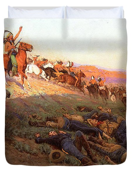 Custer's Last Stand Duvet Cover by Richard Lorenz