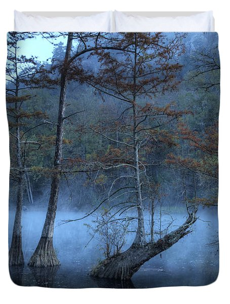 Cypress Awakening Duvet Cover by Tamyra Ayles