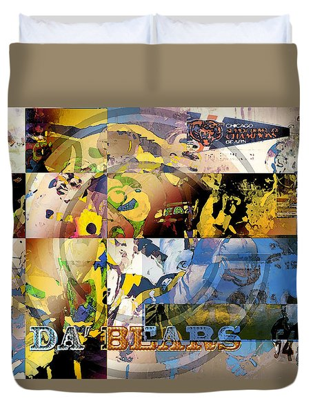 Da Bears V3 Duvet Cover by Jimi Bush