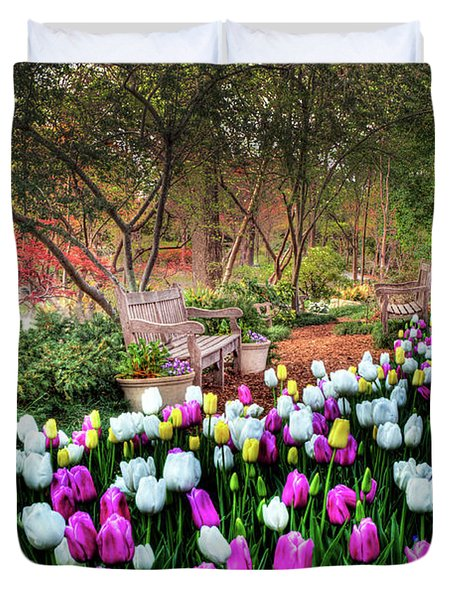 Dallas Arboretum Duvet Cover by Tamyra Ayles