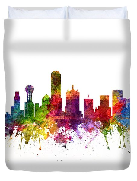 Dallas Cityscape 06 Duvet Cover by Aged Pixel