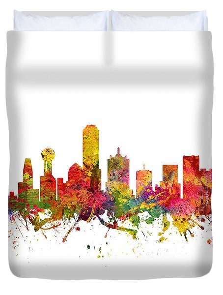 Dallas Cityscape 08 Duvet Cover by Aged Pixel