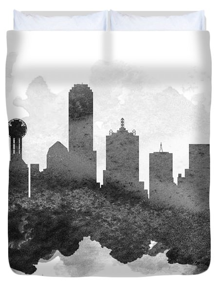 Dallas Cityscape 11 Duvet Cover by Aged Pixel