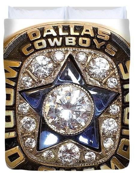 Dallas Cowboys First Super Bowl Ring Duvet Cover by Paul Van Scott