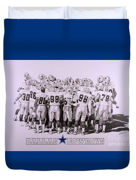 Dallas Cowboys Duvet Cover by Shawn Stallings