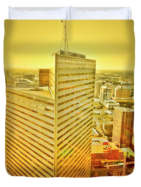 Dallas Gold Duvet Cover by Douglas Barnard