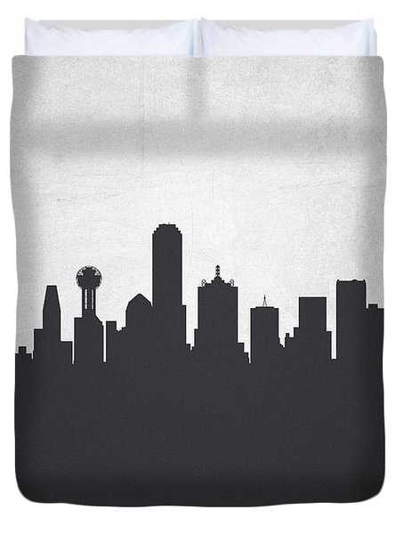 Dallas Texas Cityscape 19 Duvet Cover by Aged Pixel