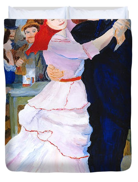 Duvet Cover featuring the painting Dance At Bougival After Renoir by Rodney Campbell