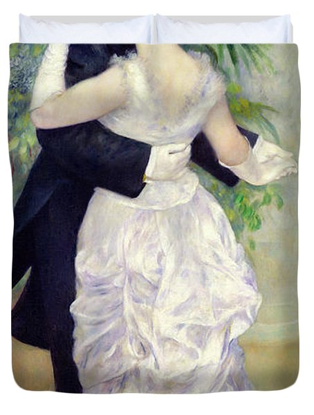 Dance In The City Duvet Cover by Pierre Auguste Renoir