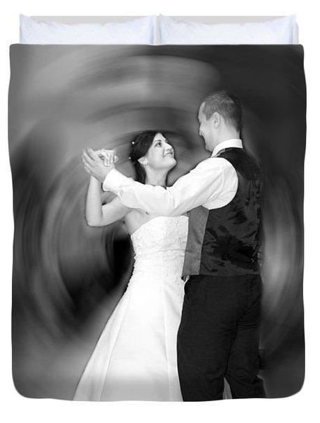 Dance Of Love Duvet Cover by Daniel Csoka