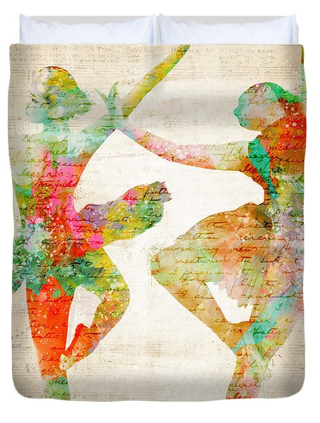 Dance With Me Duvet Cover by Nikki Smith