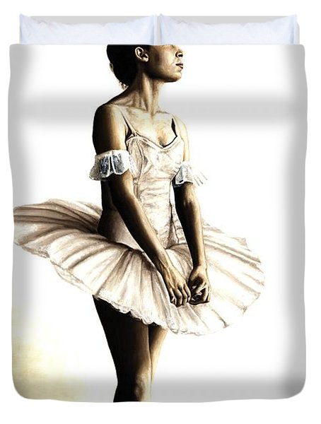 Dancer At Peace Duvet Cover by Richard Young