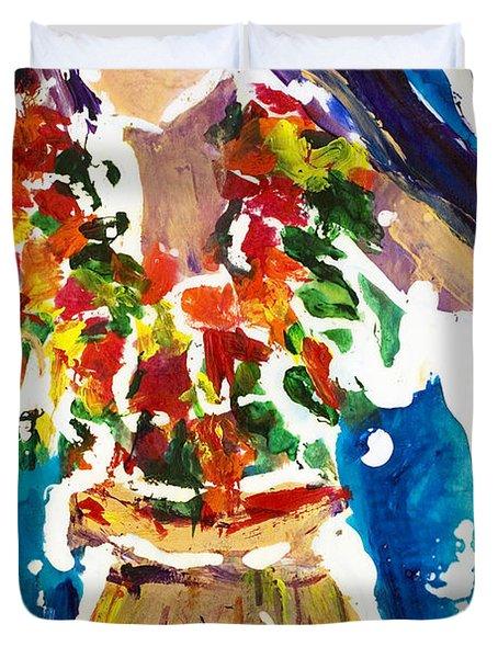 Dancing Hula Duvet Cover by Julie Kerns Schaper - Printscapes