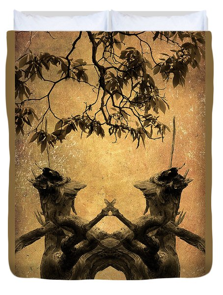 Dancing Trees Duvet Cover by Dave Gordon