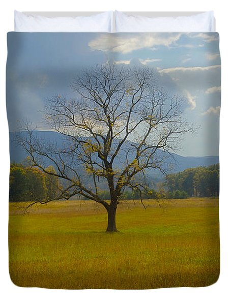Dare to Stand Alone Duvet Cover by Michael Peychich